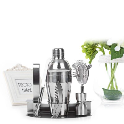 7pcs 550ml Professional Stainless Steel Cocktail MakerBarware<br>7pcs 550ml Professional Stainless Steel Cocktail Maker<br><br>Product weight: 0.780 kg<br>Package weight: 0.906 kg<br>Package Size(L x W x H): 23.00 x 15.00 x 13.50 cm / 9.06 x 5.91 x 5.31 inches<br>Package Contents: 1 x Cocktail Maker Set
