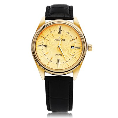 OSHRZO Chic Men Quartz WatchMens Watches<br>OSHRZO Chic Men Quartz Watch<br><br>Band Length: 8.11 inch<br>Band Material Type: Leather<br>Band Width: 18mm<br>Case material: Alloy<br>Case Shape: Round<br>Clasp type: Pin Buckle<br>Dial Diameter: 1.68 inch<br>Dial Display: Analog<br>Dial Window Material Type: Glass<br>Feature: Date<br>Gender: Men<br>Movement: Quartz<br>Style: Simple<br>Product weight: 0.046 kg<br>Package weight: 0.067 kg<br>Product Size(L x W x H): 25.00 x 4.40 x 0.80 cm / 9.84 x 1.73 x 0.31 inches<br>Package Size(L x W x H): 26.00 x 5.40 x 1.80 cm / 10.24 x 2.13 x 0.71 inches<br>Package Contents: 1 x Watch