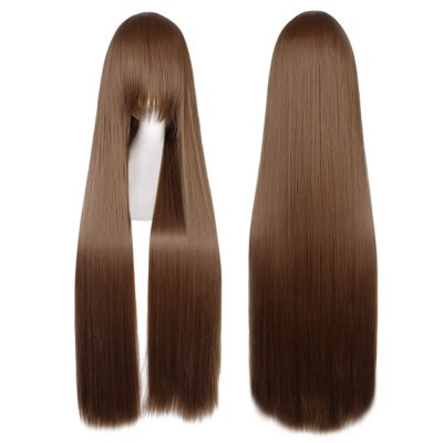 100CM Long Silky Straight Central Parting Synthetic Wigs