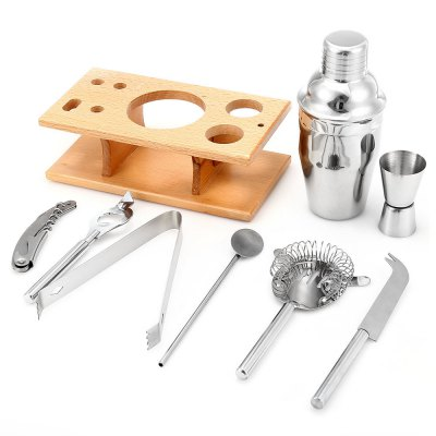9pcs 350ml Professional Stainless Steel Cocktail MakerBarware<br>9pcs 350ml Professional Stainless Steel Cocktail Maker<br><br>Package Contents: 1 x Cocktail Maker Set<br>Package Size(L x W x H): 22.00 x 17.00 x 13.00 cm / 8.66 x 6.69 x 5.12 inches<br>Package weight: 1.070 kg<br>Product weight: 0.923 kg