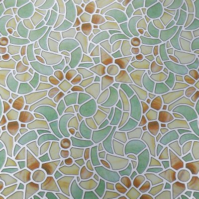 Removable Window Film Cover - Retro Flower Pattern