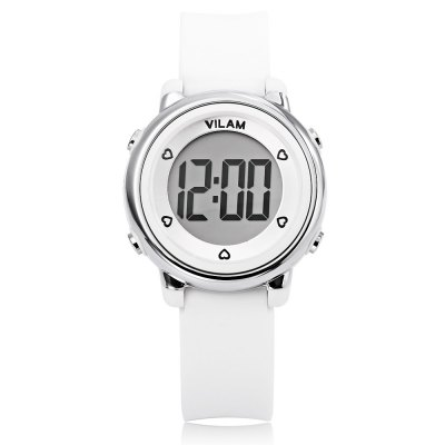 VILAM 06035 Kids Digital WatchKids Watches<br>VILAM 06035 Kids Digital Watch<br><br>Band Length: 7.56 inch<br>Band Material Type: Silicone<br>Band Width: 16mm<br>Case material: Plastic<br>Case Shape: Round<br>Clasp type: Pin Buckle<br>Dial Diameter: 1.3 inch<br>Dial Display: Digital<br>Dial Window Material Type: Plastic<br>Feature: Date,Led Display,Luminous<br>Gender: Children<br>Movement: Digital<br>Style: Sport<br>Water Resistance Depth: 50m<br>Product weight: 0.030 kg<br>Package weight: 0.124 kg<br>Product Size(L x W x H): 22.50 x 3.30 x 1.50 cm / 8.86 x 1.3 x 0.59 inches<br>Package Size(L x W x H): 9.00 x 9.00 x 8.00 cm / 3.54 x 3.54 x 3.15 inches<br>Package Contents: 1 x Watch