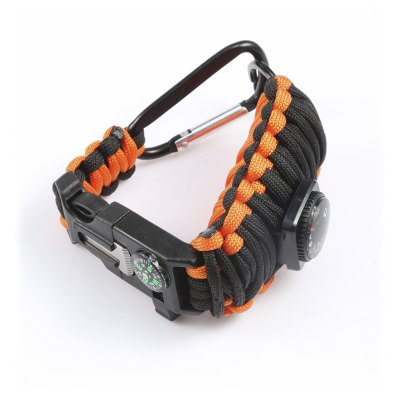 Outdoor Multifunctional Survival Compass Bracelet Kit