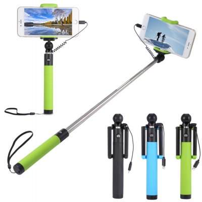 Collapsible Selfie Stick Monopod Camera Shutter for iPhone