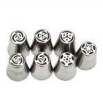 7pcs DIY Stainless Steel Buttercream Icing Piping Nozzles