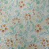 cheap Removable Window Film Cover - Retro Flower Pattern