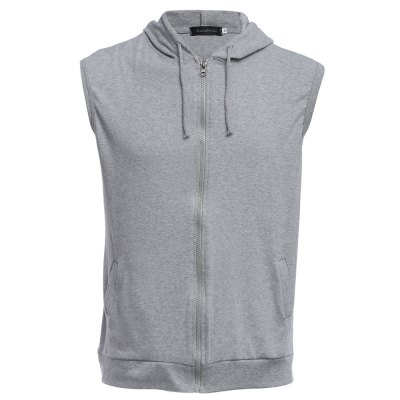 Men Hooded Vest