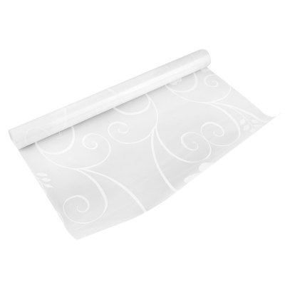 Removable Window Film Cover - White Vine Pattern