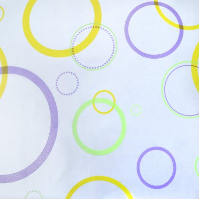 Removable Window Film Cover - Colored Circles Pattern