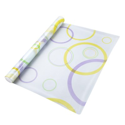 Removable Window Film - Colored Circles Pattern