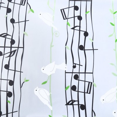 Removable Window Film Cover - Musical Note Pattern