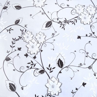Removable Window Cover Film - Flower Pattern