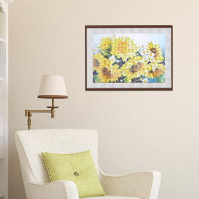 25 x 35cm 5D Sunflower Painting Cross Stitch Tool