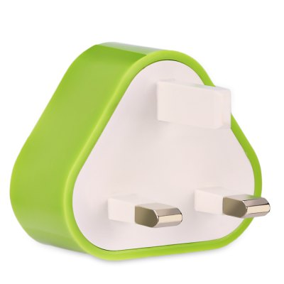 Triangle Shape Wall Charger Adapter Dual USB Port