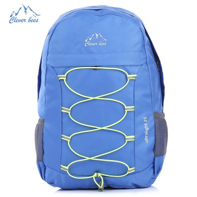 CLEVERBEES Outdoor Hiking Foldable Backpack with Reflective Strap