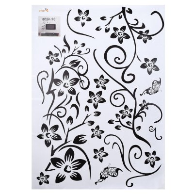 Flower Pattern Removable Wall Sticker