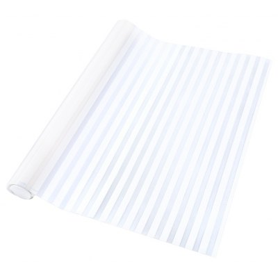 Removable Window Film Cover - White Stripe Pattern