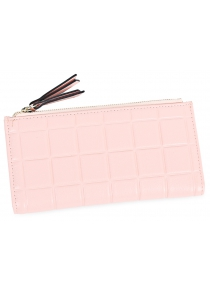 Solid Three-dimensional Embossed Fringed Women Purse