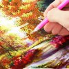best 30 x 40cm 5D Woods Landscape Painting Cross Stitch Tool