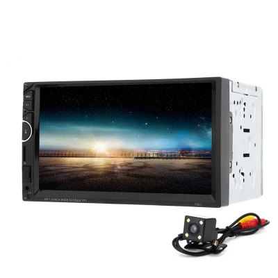 7001 7 inch Double Din 12V Car Multimedia MP5 Player with Camera