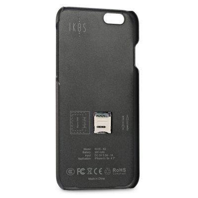 IKOS K2 Bluetooth 4.0 Dual SIM Card Shell for iPhone 6 / 6S