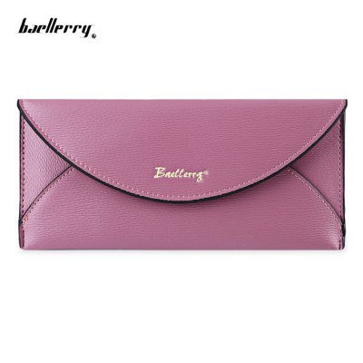 Baellerry  Candy Color Snap Fastener Envelope Clutch Wallet