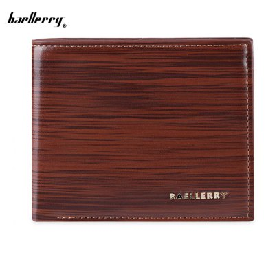 Baellerry Men Dot Stripe Business Short Clutch Wallet