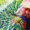 best 40 x 40cm 5D Peacock Spreading Tail Painting Cross Stitch Tool