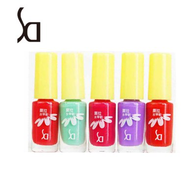 SD 5pcs / Set Peeled Friendly Water-based Nail Polish Kit Multi Colors Non-toxic Tearing Gel Makeup