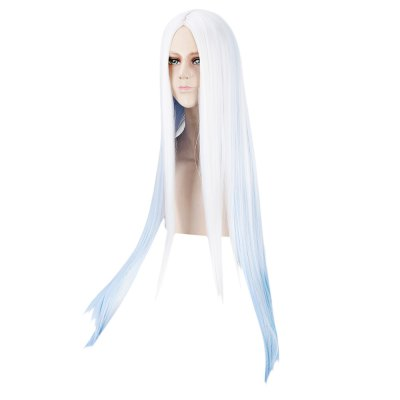 long-straight-gradient-white-blue-wigs-central-parting