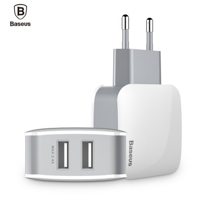 Baseus Letour 2.4A Dual USB Port Travel Charger Adapter