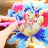 26 x 30cm Peony Flower Painting Cross Stitch Tool for sale