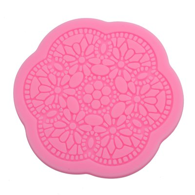 3D Lace Flower Silicone Cake Fondant Mold