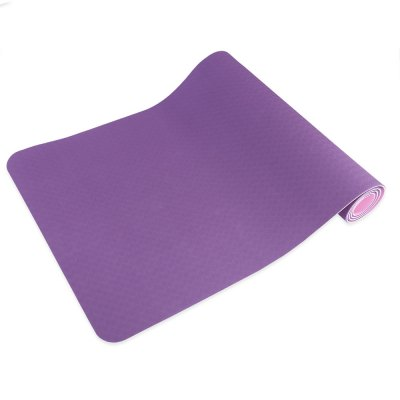 Exercise Fitness 0.6CM Dual Color Yoga Mat Accessory