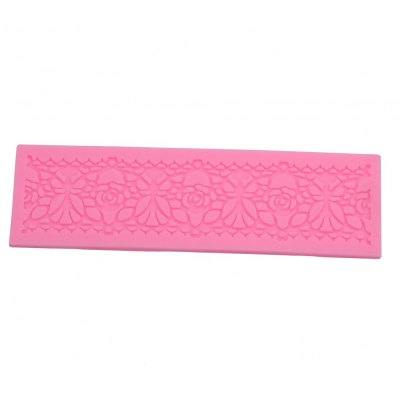 DIY Silicone Flower Cake Embossed Border Trim Mold