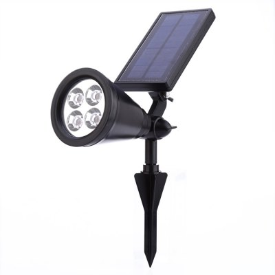 Solar Powered 4 LEDs Lawn LampOutdoor Lights<br>Solar Powered 4 LEDs Lawn Lamp<br><br>Body Material: ABS<br>Emitting color: Cold White,Warm White<br>Is Bulbs Included: Yes<br>Is Dimmable: Yes<br>Light Source: LED Bulbs<br>Package Contents: 1 x LED Lawn Lamp, 1 x Stake, 1 x English User Manual, 1 x Pack of Accessories<br>Package Size(L x W x H): 20.50 x 15.50 x 10.00 cm / 8.07 x 6.1 x 3.94 inches<br>Package weight: 0.421 kg<br>Product weight: 0.272 kg<br>Protection Level: IP44<br>Style: Modern