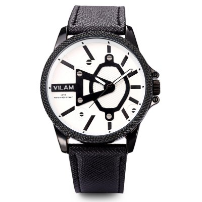 VILAM V2055G Men Quartz WatchMens Watches<br>VILAM V2055G Men Quartz Watch<br><br>Band Length: 8.27 inch<br>Band Material Type: Leather<br>Band Width: 20mm<br>Case material: Alloy<br>Case Shape: Round<br>Clasp type: Pin Buckle<br>Dial Diameter: 1.71 inch<br>Dial Display: Analog<br>Dial Window Material Type: Glass<br>Feature: Luminous<br>Gender: Men<br>Movement: Quartz<br>Package Contents: 1 x Watch<br>Package Size(L x W x H): 9.00 x 9.00 x 8.00 cm / 3.54 x 3.54 x 3.15 inches<br>Package weight: 0.147 kg<br>Product Size(L x W x H): 25.50 x 4.50 x 1.00 cm / 10.04 x 1.77 x 0.39 inches<br>Product weight: 0.053 kg<br>Style: Business<br>Water Resistance Depth: 30m