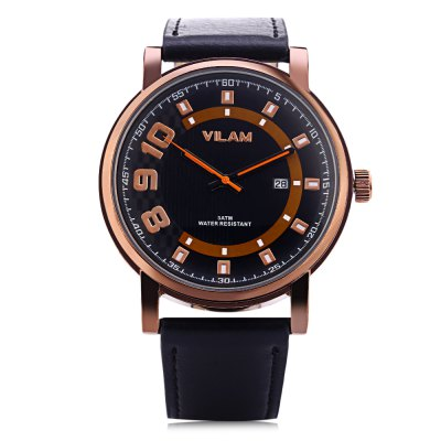 VILAM V2032G Men Quartz WatchMens Watches<br>VILAM V2032G Men Quartz Watch<br><br>Band Length: 8.47 inch<br>Band Material Type: Leather<br>Band Width: 20mm<br>Case material: Alloy<br>Case Shape: Round<br>Clasp type: Pin Buckle<br>Dial Diameter: 1.71 inch<br>Dial Display: Analog<br>Dial Window Material Type: Glass<br>Feature: Luminous, Date<br>Gender: Men<br>Movement: Quartz<br>Package Contents: 1 x Watch<br>Package Size(L x W x H): 9.00 x 9.00 x 8.00 cm / 3.54 x 3.54 x 3.15 inches<br>Package weight: 0.148 kg<br>Product Size(L x W x H): 26.00 x 4.50 x 1.00 cm / 10.24 x 1.77 x 0.39 inches<br>Product weight: 0.054 kg<br>Style: Business<br>Water Resistance Depth: 30m