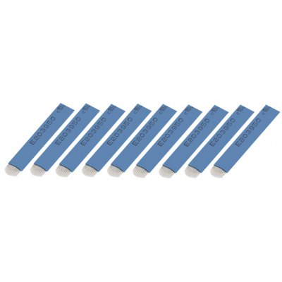 50pcs PCD 18 Pin Blue Circular Arc Tattoo Eyebrow Shading Blades Needles for 3D Embroidery Manual Pen