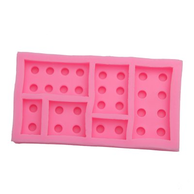 DIY Building Block Plate Pattern Cake Fondant Baking Kit