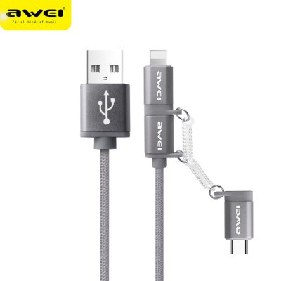Awei CL - 990 3 in 1 2.1A Charge Data Transfer Cord 1m