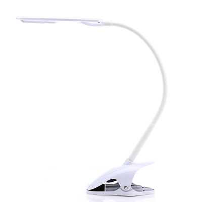 Clip Fixtures LED Dimmable Desk LightTable Lamps<br>Clip Fixtures LED Dimmable Desk Light<br><br>Body Color: White<br>Body Material: ABS<br>Is Bulbs Included: Yes<br>Is Dimmable: Yes<br>Light Source: Energy Saving,LED Bulbs<br>Package Contents: 1 x LED Table Lamp, 1 x USB Cable<br>Package Size(L x W x H): 30.00 x 17.00 x 10.00 cm / 11.81 x 6.69 x 3.94 inches<br>Package weight: 0.530 kg<br>Power Source: DC,Rechargeable Battery,USB<br>Product weight: 0.323 kg<br>Style: Modern
