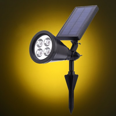 Solar Powered 4 LEDs Lawn Lamp