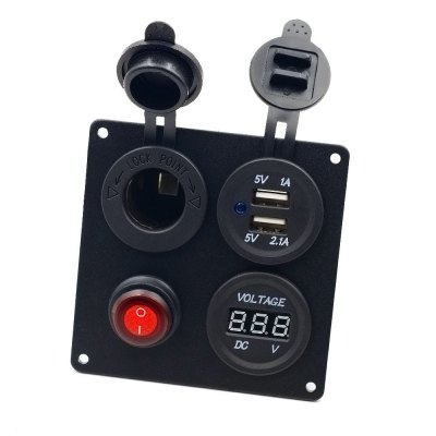 Vehicle Switch Panel Cigarette Lighter USB Output