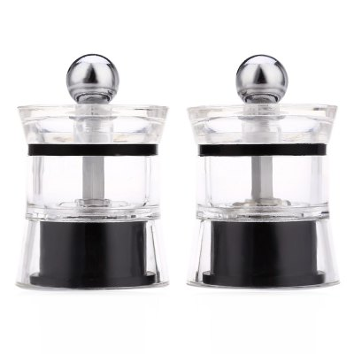 2pcs Acrylic Pepper Spice Seasoning Manual Grinder