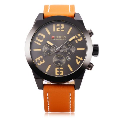 Curren 8198 Male Calendar Quartz WatchMens Watches<br>Curren 8198 Male Calendar Quartz Watch<br><br>Band Length: 8.27 inch<br>Band Material Type: Leather<br>Band Width: 20mm<br>Case material: Alloy<br>Case Shape: Round<br>Clasp type: Pin Buckle<br>Dial Diameter: 1.85 inch<br>Dial Display: Analog<br>Dial Window Material Type: Hardlex<br>Feature: Luminous, Date<br>Gender: Men<br>Movement: Quartz<br>Package Contents: 1 x Watch<br>Package Size(L x W x H): 8.50 x 8.00 x 5.50 cm / 3.35 x 3.15 x 2.17 inches<br>Package weight: 0.167 kg<br>Product Size(L x W x H): 26.50 x 5.20 x 1.20 cm / 10.43 x 2.05 x 0.47 inches<br>Product weight: 0.088 kg<br>Style: Business<br>Water Resistance Depth: 30m