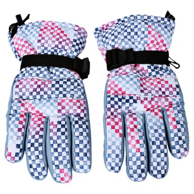 Paired Unisex Water Resistant Windproof Warm Skiing Gloves