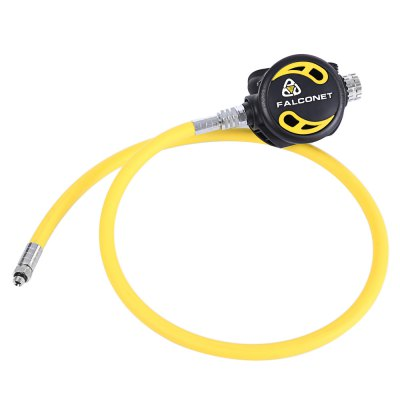 EZDIVE Scuba Diving Air Balanced Second Stage Regulator Octopus 96cm LP Hose Set