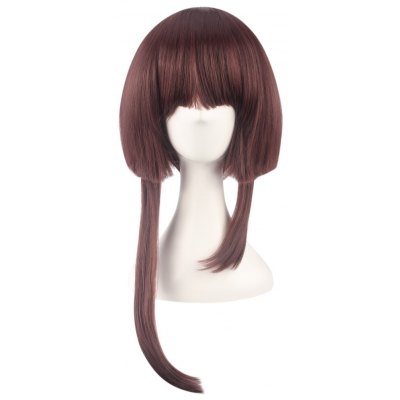 Short Full Bangs Brown Straight Wigs with Unequal Temples Cosplay for Onmyoji Yue Figure
