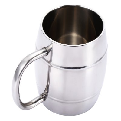 Double-layer Stainless Steel Beer Mug